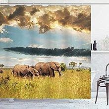 vgfjjuhn Home Decoration Safari Shower Curtain Big