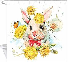 vgfjjuhn Home DecorationWatercolor Bunny Shower