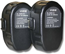 vhbw 2xNi-MH battery 3000mAh(18V) POWER TOOL