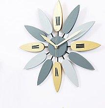 VHFGU Modern Numerals Wooden Leaf Wall Clock