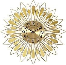 VHFGU Modern Wrought Iron Wall Clocks Wall Sticker