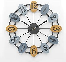 VHFGU New Oval Wall Clock Nordic Style Living Room