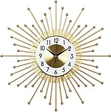 VHFGU Nordic Style Fashion Iron Wall Clock Bedroom