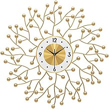 VHFGU Nordic Wall Clock Home Living Room Iron
