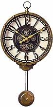 VHFGU Pendulum Wall Clock, Silent Decorative