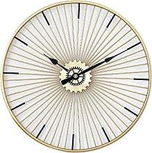 VHFGU Round Iron Living Room Wall Clock Modern