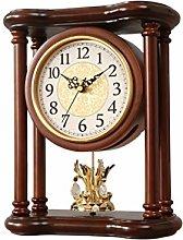 VHFGU Style Solid Wood Desk Clock Mute Desk Clock