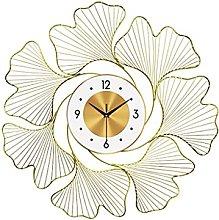 VHFGU Wrought Iron Wall Clock Wall Sticker Crafts