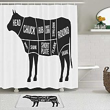vhg8dweh Shower Curtain Sets with Non-Slip