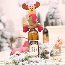 VHJ Red Santa Hat Wine Bottle Wrap Cover Topper