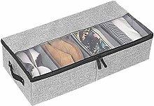 VHJ Underbed Shoe Storage, Foldable Shoe Storage