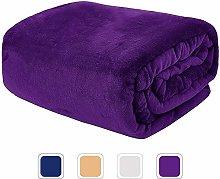 VIA MONTEN Fluffy Fleece Throw Blankets, King Size