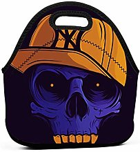 Viacle Skull Pictures Portable Lunch Bag,Travel