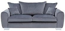 Vibe Fabric 3 Seater Scatter Back Sofa