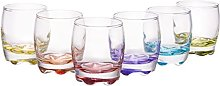 Vibrant Splash Clear Shot Glass Set, Modern