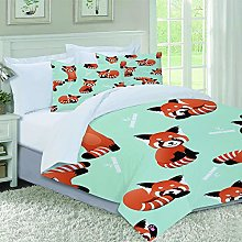 VICCHYY Duvet Cover Set-Bedding,Happy Cute Red