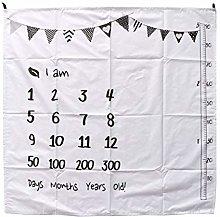 VIccoo Background Cloth, 100x100cm Baby Milestone