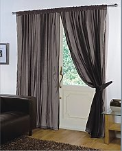 viceroy bedding Pair of Plain Voile SLOT TOP