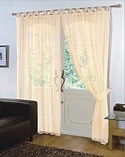 viceroy bedding Pair of Plain Voile TAB TOP