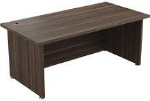 Viceroy Executive Rectangular Desk, Dark Walnut,