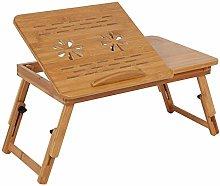 Victool Bed Lap Desk, Adjustable Bamboo Rack Shelf