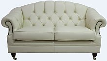 Victoria 2 Seater Chesterfield Leather Sofa Settee