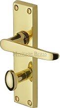 Victoria Bathroom Door Handle Heritage Brass