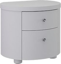 Victoria Bedside Cabinet In White High Gloss With