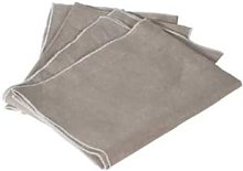 Victoria & Co - Set of 4 Grey and White Linen
