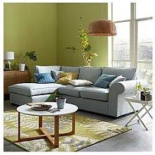 Victoria Fabric Left Hand Corner Chaise Sofa