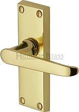 Victoria Lever Latch Heritage Brass