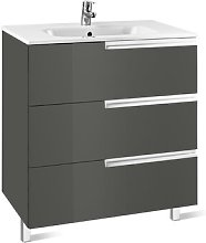 Victoria-N Vanity Unit with Mirror and Light Roca