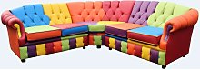 Victoria Patchwork Corner Chesterfield 2 Seater +