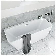 Victoria Plum Back To Wall Bath Suite With Wall