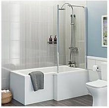 Victoria Plum L Shaped Shower Bath With Screen,