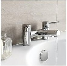 Victoria Plum Round Handle Bath Mixer Tap
