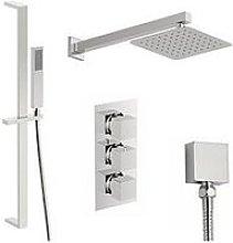 Victoria Plum Square Concealed Triple Valve Shower