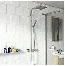 Victoria Plum Square Exposed Mixer Shower In Chrome
