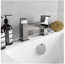 Victoria Plum Square Waterfall Bath Mixer Tap
