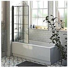 Victoria Plum Straight Shower Bath With Black
