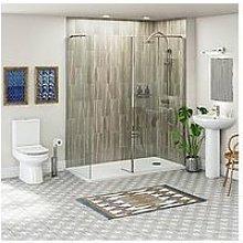 Victoria Plum Walk In Shower Enclosure Suite With