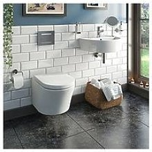 Victoria Plum Wall Hung Toilet And Basin Bundle