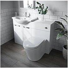 Victoria Plum White Vanity Combination Unit With