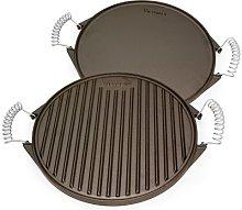 Victoria Round Cast Iron Grill. Double Burner