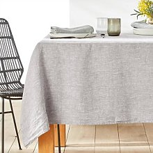 Victorine Washed Linen Chambray Tablecloth by La