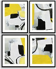 Victory - Abstract Framed Print & Mount, Set of 4,