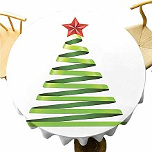 VICWOWONE Christmas Tablecloth - 35 Inch Round