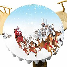 VICWOWONE Christmas Tablecloth - 70 Inch Round
