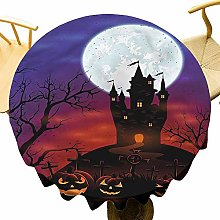 VICWOWONE Halloween Tablecloth - 35 Inch Round