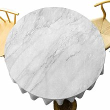 VICWOWONE Marble Tablecloth - 70 Inch Round
